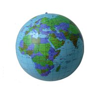Wholesale 30CM Early Educational Inflatable Earth World Geography Globe Map Balloon Toy Beach Ball
