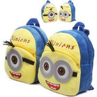 bagpacks for boys - 30PCS HHA99 Despicable Me Minions Backpack Children Boy Girl School Bagpacks Kid Children Bags cartoon bag for kids