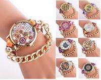 animal print watches - 2016 National Style Animal cartoon flower printing cloth women watch fashion casual chain dress fabric quartz watches