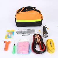 automotive emergency kits - 9 in Driving Car Ride FireWire Car Emergency Kit Automotive First Aid Kit Accessory Car Maintenance Tools With Tow Rope Rescue Hammer