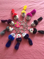 Wholesale 2016 hot style high quality mink fur accessories animal key chain key ring for girl s popular gift