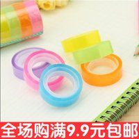 Wholesale South Korea stationery new rainbow tape when using transparent adhesive tape color not dry tape roll