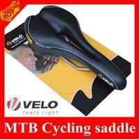Wholesale VELO Hollow Breathable Bike Saddles Silicone Cushion Seat Rubber Bicycle Saddle Black Mountain Bike Seat BMX parts
