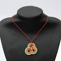 Wholesale Newest Hot Sale Chinese Ancient Coins Feng Shui Lucky Coins For Wealth And Health Car Pendant Lucky Charm