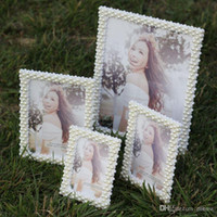 Wholesale Pearl Photo Frame Handmade Crystal Diamond Rhinestone Studio Picture Frame Decoration quot Soft Round Angle and Right Angle