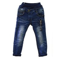 baby boys denim jeans - Boys Jeans Kids Pants with Zipper Spring Autumn Children s Trousers Warm Baby Denim Jeans for Y