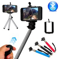 Wholesale 4in1 Wireless Bluetooth Remote Shutter Handheld Cellphone Selfie Stick Monopod Tripod Holder for IOS Android DC494
