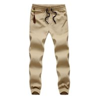 Wholesale Plus Size Khaki Joggers Mens Khaki Pants Jogging Pants Men s Cuffed Joggers Pants Cotton Long Trousers European