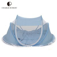 Wholesale Hot Baby Bed Cunas Baby Crib Spring Summer Years Portable Baby Cots Foldable Crib Net Newborn Travel Bed Baby Cradle HK357