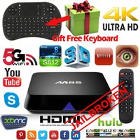 Wholesale M8S Android Smart JAILBROKEN TV Box Fully loaded Quad core K G G wifi HDMI XBMC KODI Media Player Air Mouse Keyboard TV Box