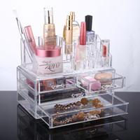 Wholesale Clear Acrylic Makeup Organizer Storage case Acrylic organizer drawers Cosmetic Organizer Jewelry storage acrylic cabinet box