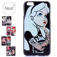 ariel blue - 3D For IPhone s s plus Tattooed Princess Alice in Wonderland Ariel Jasmine Cinderella Hard Plastic Case