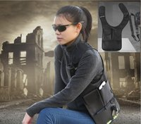 Wholesale Fashion Armpit Tactical bag FBI Agents Package Invisible Backpack For Interphone ipad iPhone Samsung HTC Huawei LG phones Wallet Free DHL
