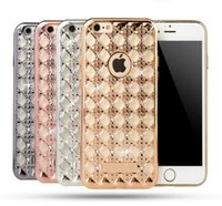 Wholesale Eletroplating TPU Agate Phone Shell Protection Metal Armor Mobile Case For iphone s Samsung A510 A710 A8 A9