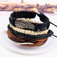 Cheap Alloy jewelry wooden beads woven beaded bracelet DIY Bracelets Jewelry Women Charm Baracelets vintage pendant for gorgeous Top Design
