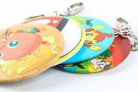 Wholesale girl mini pocket makeup mirror cosmetic compact mirrors Small Cute Cartoon pikachu Pocket poke go Hand Makeup Mirror Hang bag accessories