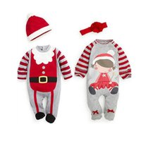 Wholesale 2016 Baby Boys Girls Romper Jumpsuit Kids Christmas Long Sleeve Printing Clothes Kids Decoration K203