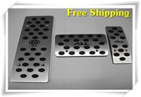 Wholesale High quality Car Styling Aluminium Alloy cover Alloy covers foot Gas Brake Rest accelerator Pedal AT MT for kia soul