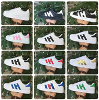 Wholesale HOT Men Women Shoes Flat bottom plate direct selling business seven colors superstar shoes casual shoes couple shoes shoe size