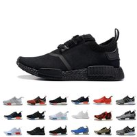 art yellow - Cheap NMD R1 Monochrome Mesh Triple White Black Men Women Running Shoes Sneakers Fashion NMD Runner Primeknit Casual Shoes