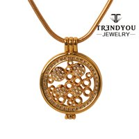 ab slide - TRENDYOU Jewelry My Coin Pendant Locket Necklace Hot With AB Color Rhinestone FQ16810