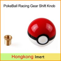 Wholesale New mm Poke PokeBall Racing x1 Gear Shift Knobs with adaptors