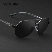 aluminum eyeglass frames - Veithdia New Men s Brand Polarized Sunglasses Men Driving Glasses Alloy Frame Hawkers Sunglass Outdoor Goggles Eyeglasses