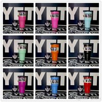 Wholesale 14 Colors Beer Mug oz Yeti Cup Stainless Steel Yeti Rambler YETI Coolers Rambler Tumbler Double Walled Travel Mug YETI cup