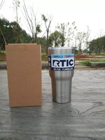 Wholesale SF EXPRESS Stainless Steel oz RTIC Logo Cups Tumbler Rambler Cups Sharp as YETI Mugs Rtic Cups with Lids