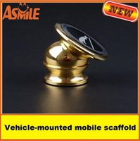 Wholesale 360 Phone Rotating Multifunctional Magnetic Car Holder Stent Strong Magnet Badge Vehicle mounted Mobile Pad Navigator Scaffold Fixator