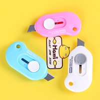 Wholesale Hobby mini portable trumpet candy color knife opener opener FedEx Office paper knife special offer