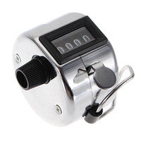 Métal rodage France-Manuel Lap New Best Promotion Acier Métal Mini Sport Golf Handheld 4 Digit Argent Nombre Main Tally Counter Clicker