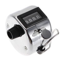 Wholesale New Best Promotion Stainless Metal Mini Sport Lap Golf Handheld Manual Digit Number Hand Tally Counter Clicker Silver