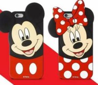 Wholesale for iPhone Cute Cartoon D Mickey Minnie Lover Case silicon Mouse Soft Silicone Back Cover Shell for iPhone S s plus Plus