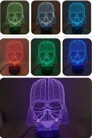 Card No No 2016 Hot Special Offer Warrier 3D Optical Night Light 7 RGB Light 10 LEDs DC 5V AA Battery Gift