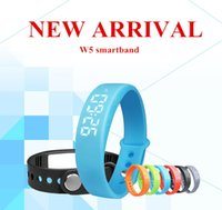 usb wristband - Smart Wristband W5 Smart Bracelet D Pedometer Fitness Wristbands Calorie Monitor USB Rechargeable Watch Temperature Display For IOS Android