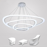 acrylic fixtures - Modern chandelier acrylic lights lamp for dinning room living room LED Light Ceiling Lamp fixture AC85 V