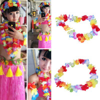 Wholesale Hot Colorful Headwear Flower Garlands Hawaiian Tropical Party Fancy Dress Necklace