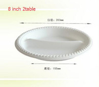 Wholesale 8inch with table Starch Tableware Natural Disposable Degradable Starch Sauce Dish Sauce Dish flavor small dish a Plate thicken