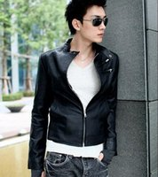 Wholesale Fall Fashion Brand Jacket New Arrivals Autumn Brand trun down Leather Jacket Men pu Leather black Coat Jacket