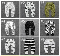 Wholesale 2016 Baby Leggings Newborn Unisex Fox Pants Autumn Kids Striped Cotton Trousers Toddler Boys Haren Tights Outfits