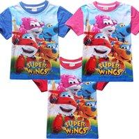 Wholesale NEW cartoon super wings children t shirts Summer boys girl kids short sleeve tees cotton baby Clothing boys t shirts girl