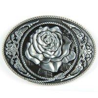 Wholesale Silver Rose Western Belt Buckle