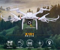 Wholesale Profession Drones MJX X101 Quadcopter G Axis RC Helicopter with Gimbal with P C4008 FPV Wifi Camera HD VS SYMA X8C X600