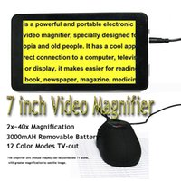 Wholesale UM007 Electronic Magnifier Low Vision Reading Aid inches Portable Video Magnifier loupe electronique Microscope Typoscope