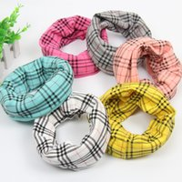 Wholesale 2016 new autumn and winter children s cotton plaid scarves scarf collars children baby bibs bandana kid boy girl o ring scarf
