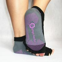 Wholesale 2pieces pair Five Toe open Socks woman Yoga Dancing socks Antiskid Backless Cotton Material For Sporting Half Toe backless