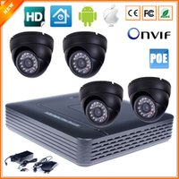 Wholesale Home Surveillance System CH IP Security Camera PoE NVR Kit System With Indoor Dome IP Camera PoE P MP P2P IR LED