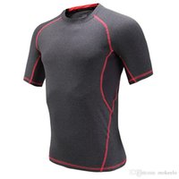 Wholesale High Elastic Compression Gym Body Building Tight T shirt Sports Hiking Clothing Professional Gym Compression Shirts