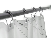 Wholesale Shower Curtain Hooks Stainless Steel Polished Chrome per Set of Ring